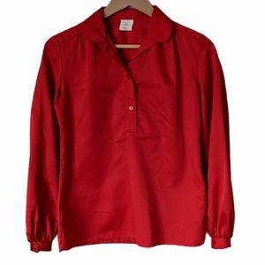 Vintage 80s Marks and Spencer Red Blouse